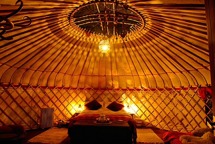 4. yurt in the paddock - watch the stars through the crown roof