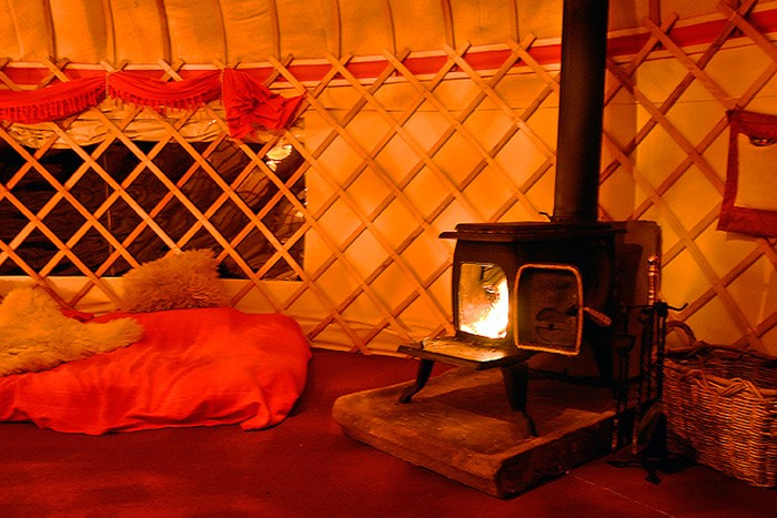 5. yurt in the paddock - nice n toasty woodburner