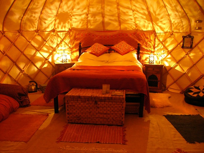 3. yurt by the stream - cosy nights in