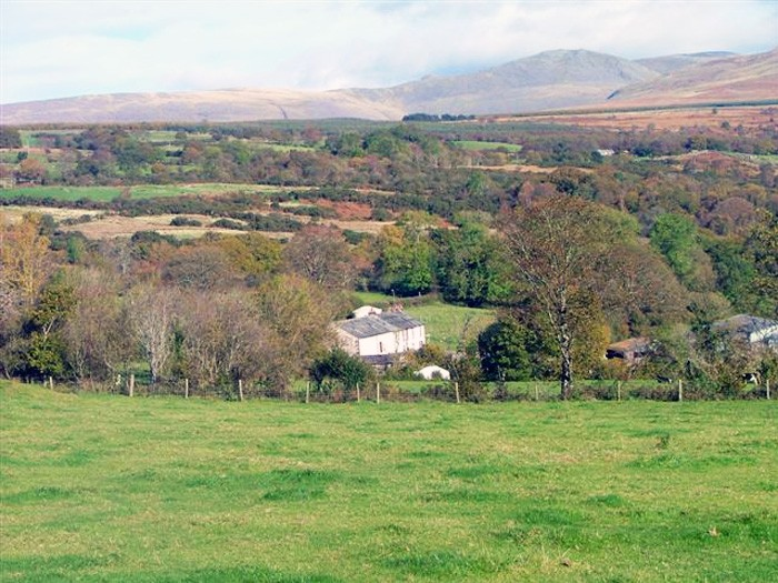 4. view of rainors farm and both yurts