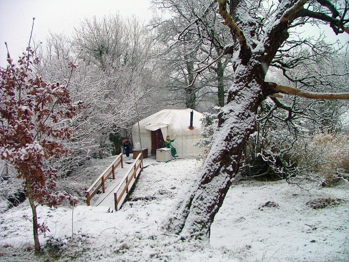 7. yurt by the stream - winter time
