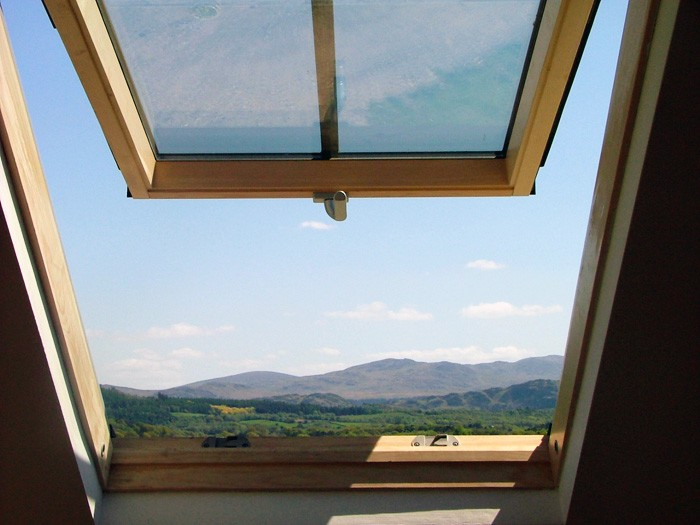 4. cottage suite - view from the attic bedroom window